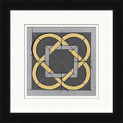 Charcoal Lines 1 Framed Art, 24