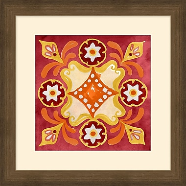 Jacobean Pattern 2 Framed Art, 24