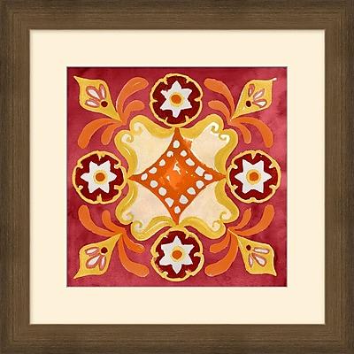 Jacobean Pattern 2 Framed Art, 24