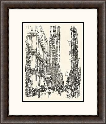 New York Sketch 1 Framed Art, 24
