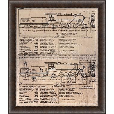 Train Diagram 2 Framed Art, 24