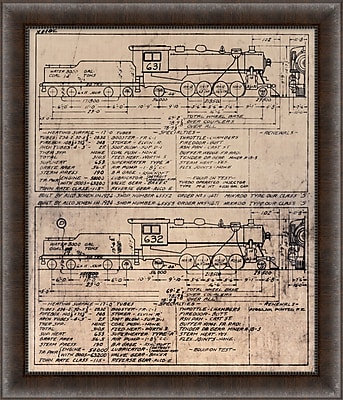 Train Diagram 2 Framed Art, 24