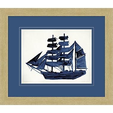 Indigo Ships 1 Framed Art, 28