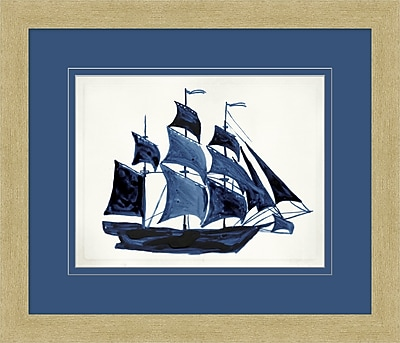 Indigo Ships 2 Framed Art, 28