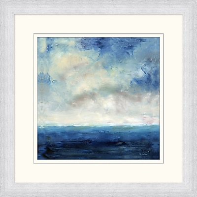 Navy Ocean Horizon 1 Framed Art, 28