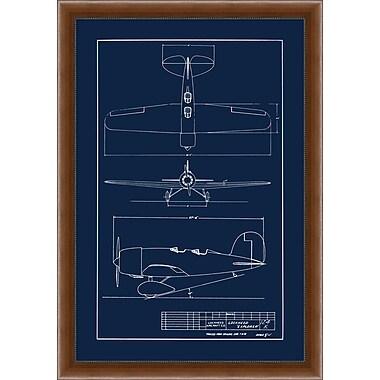 Sea Plane Blue Print 2 Framed Art, 28