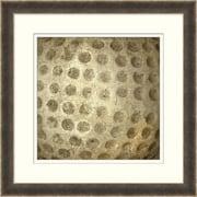 "Vintage Golf Ball Framed Art, 28"" x 28"""