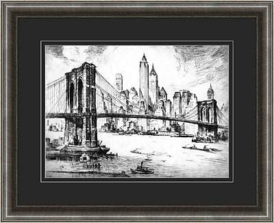New York Etching 1 Framed Art, 32