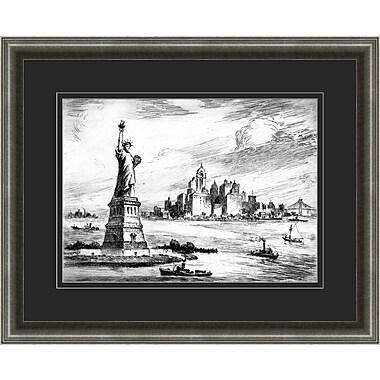 New York Etching 2 Framed Art, 32