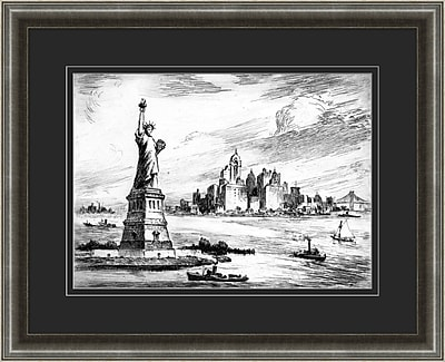 New York Etching 2 Framed Art, 32