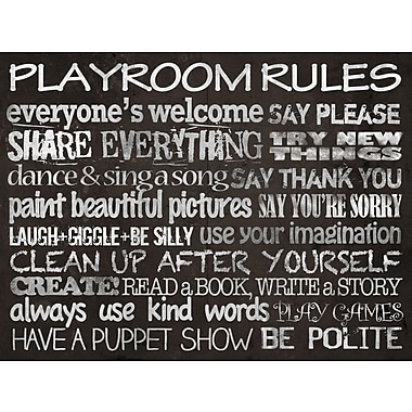 Play Room Rules Canvas Art, 40