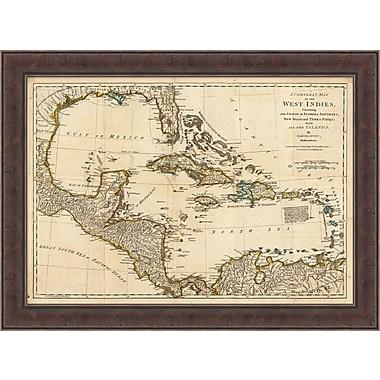West Indies Map Framed Art, 42