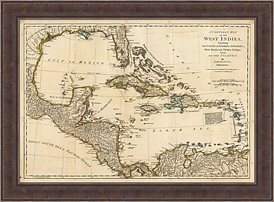West Indies Map Framed Art, 42