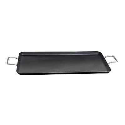 "Better Chef® 22"" Cast Aluminum Double Griddle; Black"