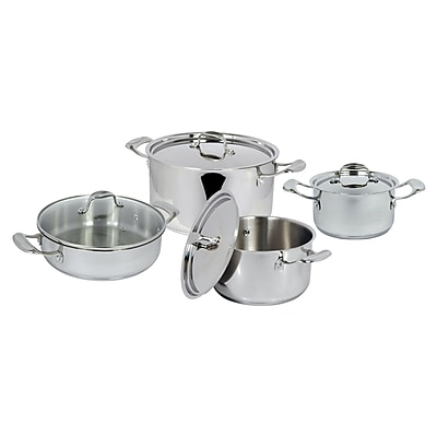 Better Chef 8-Piece Stainless Steel Cookware Set
