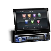 """Boss® In-Dash Single DIN 7"""" Motorized Touchscreen Monitor DVD Player With Front USB-Port"""