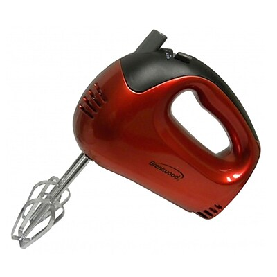 Brentwood® 5-Speed 150 W Hand Mixer; Red