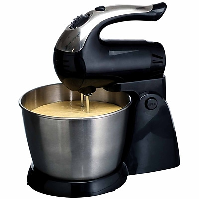 Brentwood® 5-Speed 200 W Stand Mixer With Stainless Steel Bowl, Black