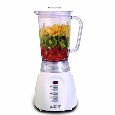 Brentwood® 6-Speed 350 W Blender With Plastic Jar, White