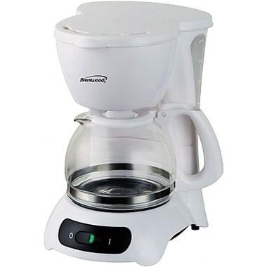 Brentwood® 650 W 4-Cup Coffee Maker, White