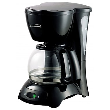 Brentwood® 650 W 4-Cup Coffee Maker, Black