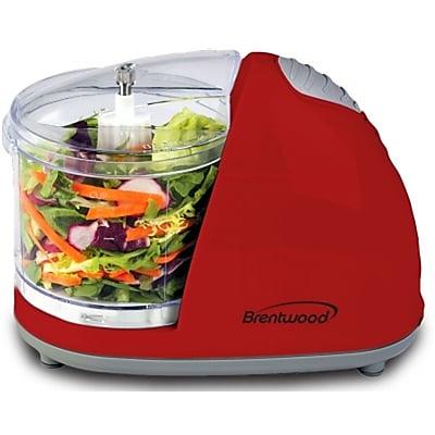 Brentwood® 50 W Mini Food Chopper, Red