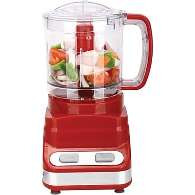 Brentwood® 200 W 3-Cup/24 Oz. Food Processor, Red