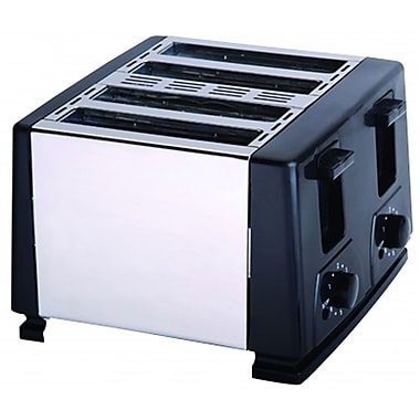 Brentwood® 4-Slice 1300 W Toaster, Black