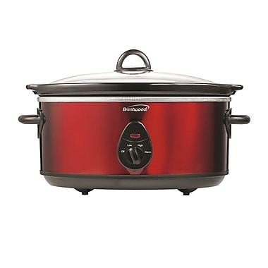 Brentwood® 120 W 6.5 qt. Slow Cooker, Red