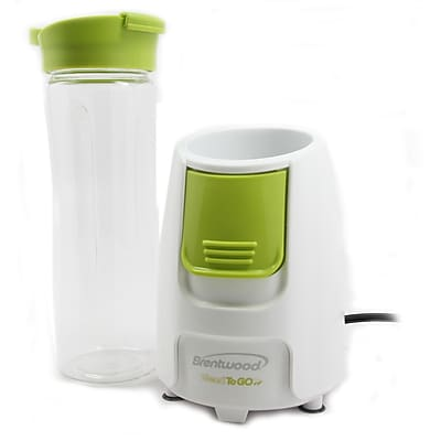 Brentwood® Blend-To-Go 300 W Personal Blender, White/Green