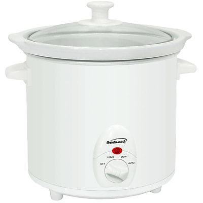 Brentwood® 3 qt. Metal Slow Cooker; White