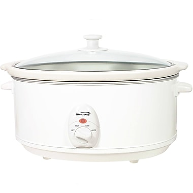 Brentwood® 6.5 qt. Metal Slow Cooker, White