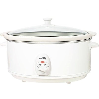 Brentwood® 6.5 qt. Metal Slow Cooker; White
