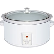 Brentwood® 8 qt. Metal Slow Cooker; White