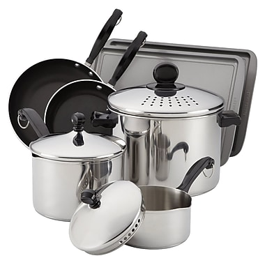 Farberware® Classic 10-Piece Stainless Steel Cook and Strain Set