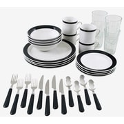 Gibson® 32-Piece Essex Dinnerware Set, Black