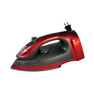 Impress® 1200 W Retractable Cord-Winder Iron; Red/Black