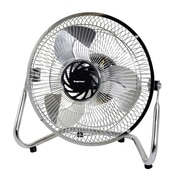 "Impress® 9"" High Velocity 3-Speed Floor Fan, Silver"
