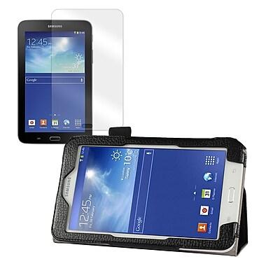 Mgear Double Fold Folio Case Bundle For Samsung Galaxy Tab 3 Lite