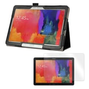 "Mgear Double Fold Folio Case With Clear Screen Protector For 12.2"" Samsung Galaxy Tab Pro, Black"