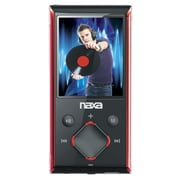"Naxa® NMV-173-Portable Media Player With 1.8"" Screen/4GB Memory/FM Radio/microSD Card Slot, Red"