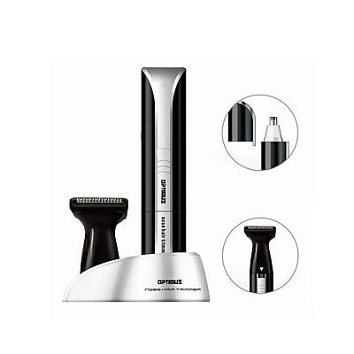 Optimus Rotary Blade Personal Grooming System; Black/Silver