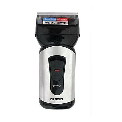 Optimus Curve 50040 Rechargeable Double Blade Wet/Dry Men's Shaver; Black/Silver