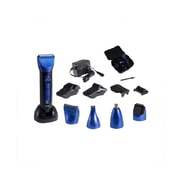 Optimus 15-Piece Wet/Dry Multi Style Clipper and Trimmer, Black/Blue