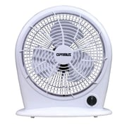"Optimus 3-Speed 10"" Stylish Personal Fan, White"