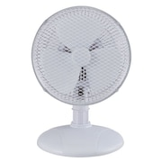 "Optimus 2-Speed 7"" Personal Table Fan, White"