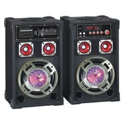 Quantum FX® SBX-61101 Digital Cabinet Speaker With Built-in Amplifier, Black