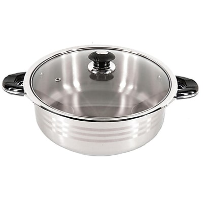 Super X Better Chef 14 qt. Stainless Steel Oval Shallow Pot
