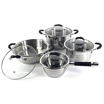 Super X Better Chef 8-Piece Jumbo Stainless Steel Cookware Set