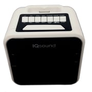"Supersonic® iq-1303 1.2"" Display Alarm Clock/Radio For iPod and iPhone, White"